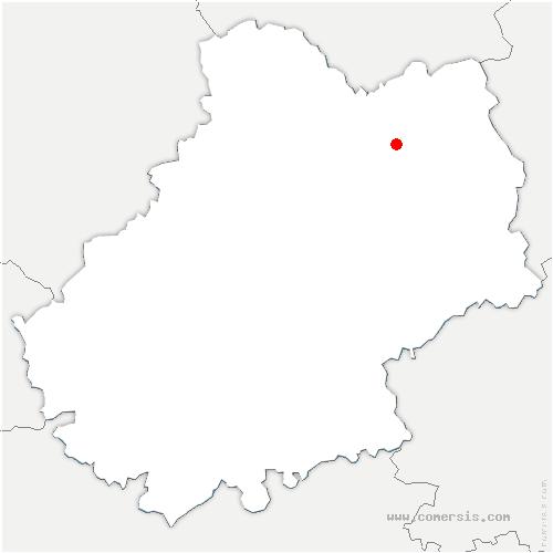 carte de localisation de Saint-Jean-Lagineste