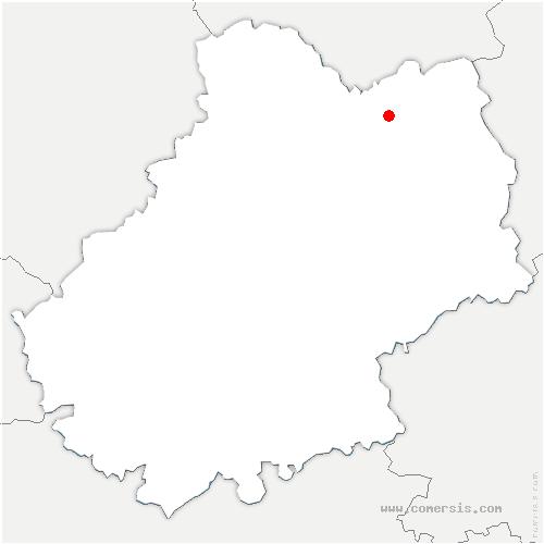 carte de localisation de Saint-Jean-Lespinasse