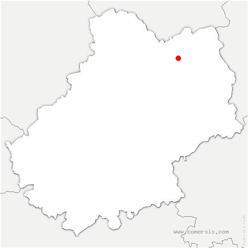 carte de localisation de Saint-Laurent-les-Tours
