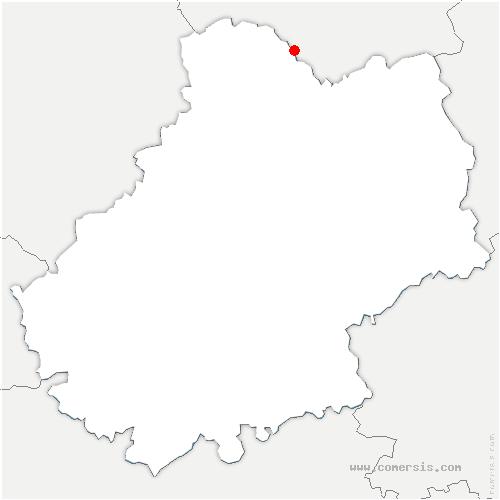 carte de localisation de Saint-Michel-de-Bannières