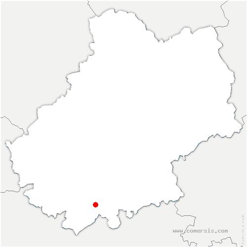 carte de localisation de Saint-Paul-Flaugnac