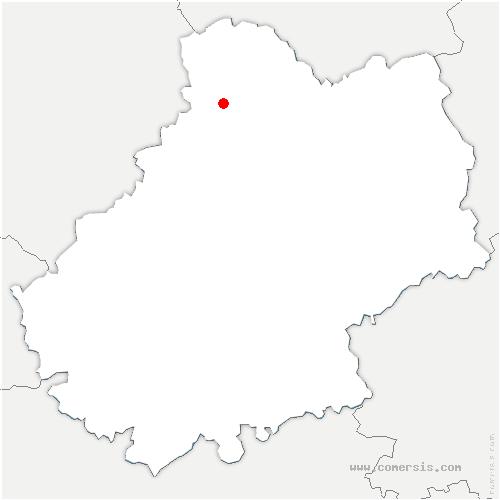 carte de localisation de Saint-Sozy