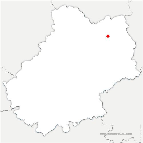 carte de localisation de Saint-Vincent-du-Pendit
