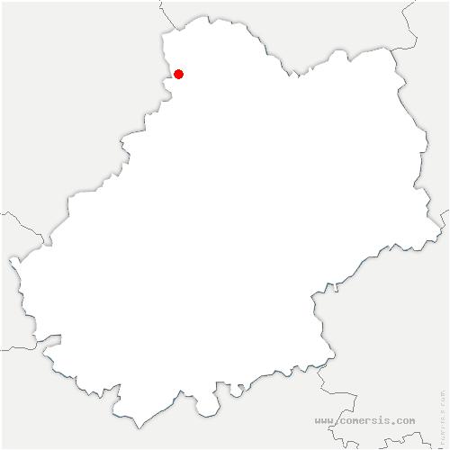 carte de localisation de Souillac