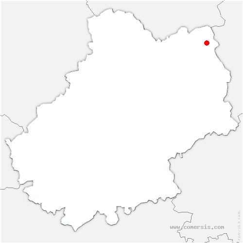 carte de localisation de Sousceyrac-en-Quercy