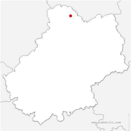 carte de localisation de Strenquels