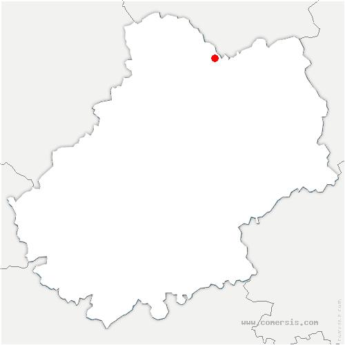 carte de localisation de Tauriac