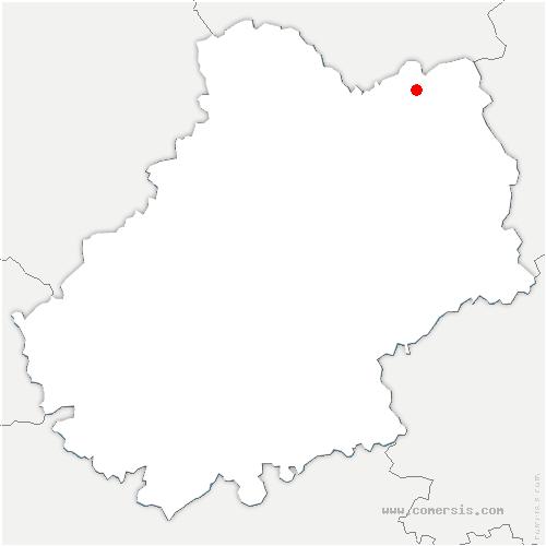 carte de localisation de Teyssieu