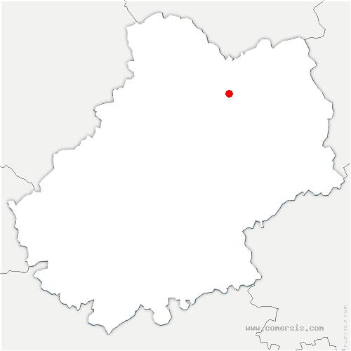 carte de localisation de Thégra