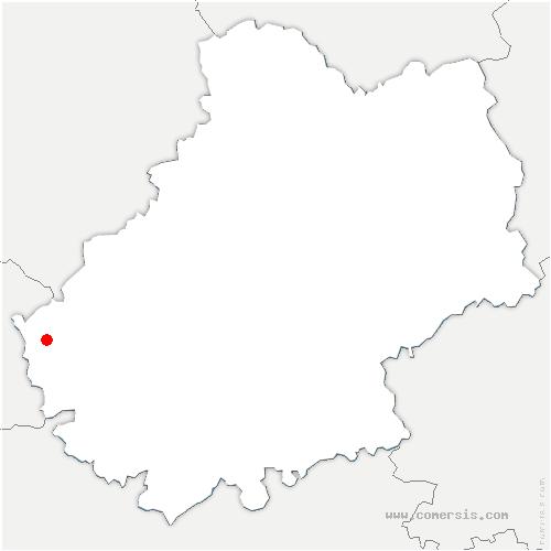 carte de localisation de Touzac