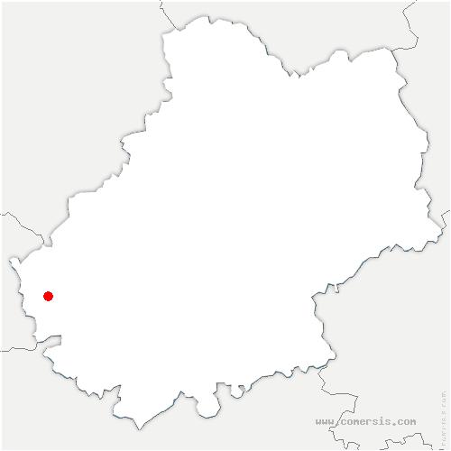 carte de localisation de Vire-sur-Lot