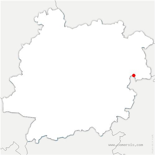 carte de localisation de Anthé