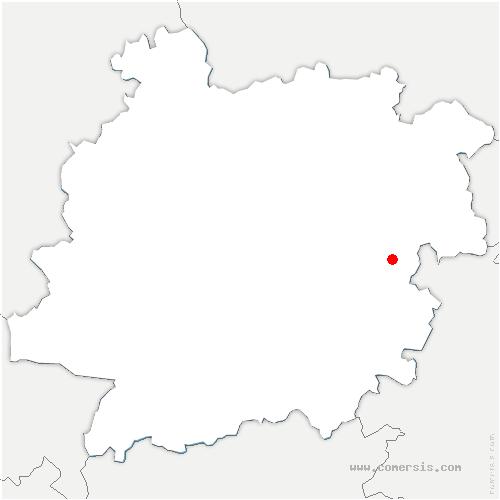 carte de localisation de Auradou