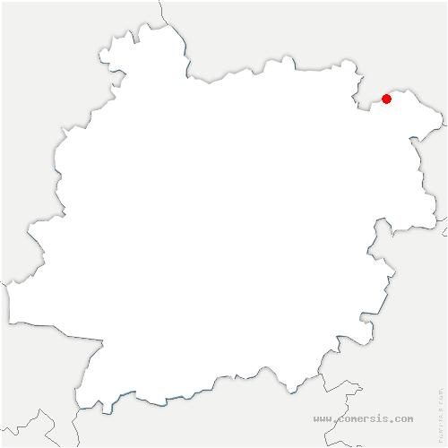 carte de localisation de Blanquefort-sur-Briolance