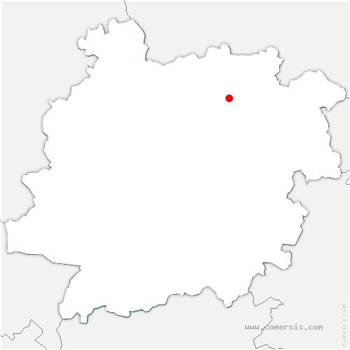 carte de localisation de Boudy-de-Beauregard
