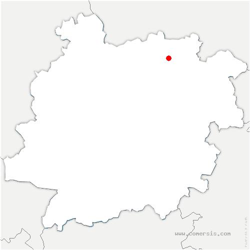 carte de localisation de Bournel