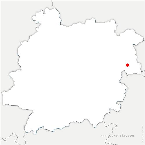 carte de localisation de Cazideroque