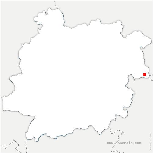 carte de localisation de Courbiac