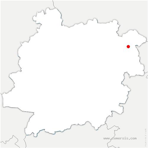 carte de localisation de Cuzorn