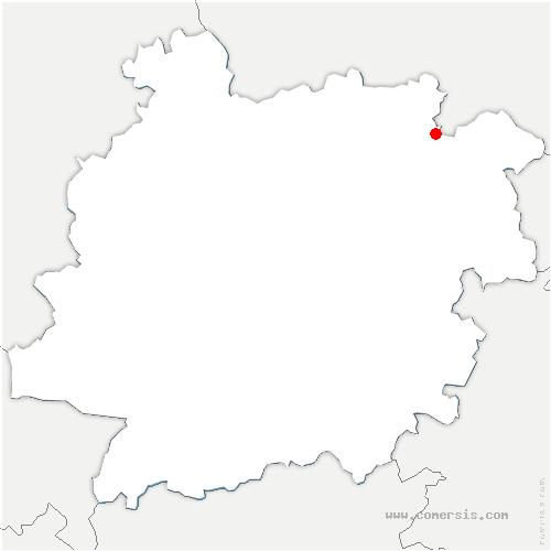 carte de localisation de Dévillac