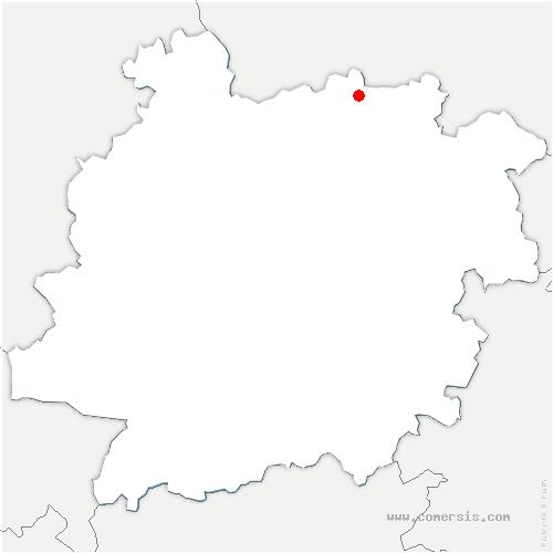 carte de localisation de Ferrensac