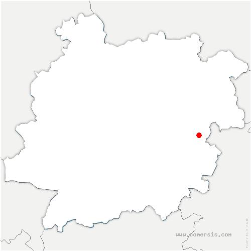 carte de localisation de Frespech