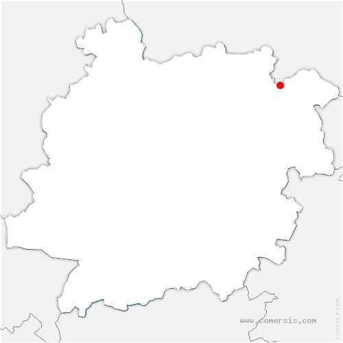 carte de localisation de Gavaudun