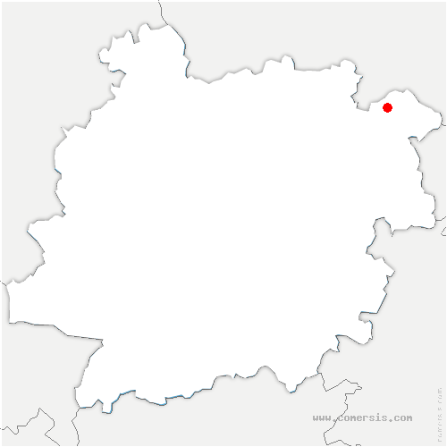 carte de localisation de Lacapelle-Biron