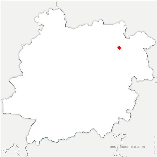carte de localisation de Laussou