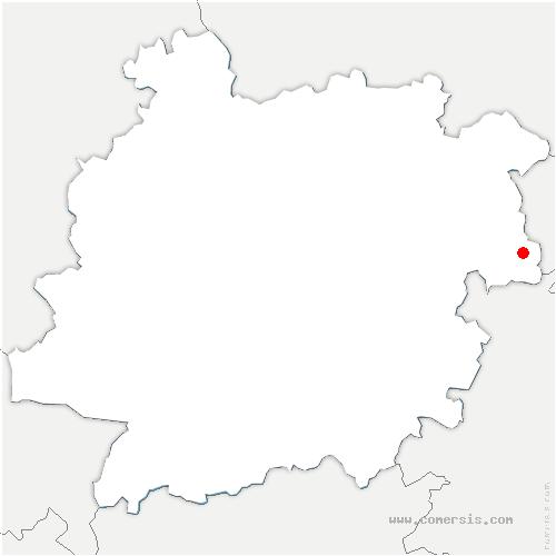 carte de localisation de Masquières