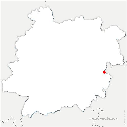carte de localisation de Massels