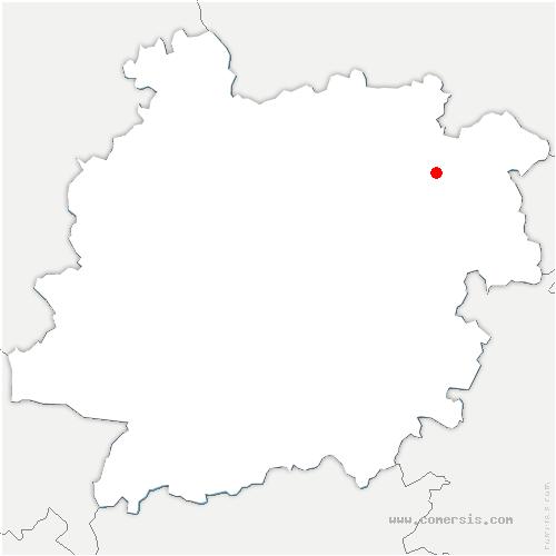 carte de localisation de Montagnac-sur-Lède