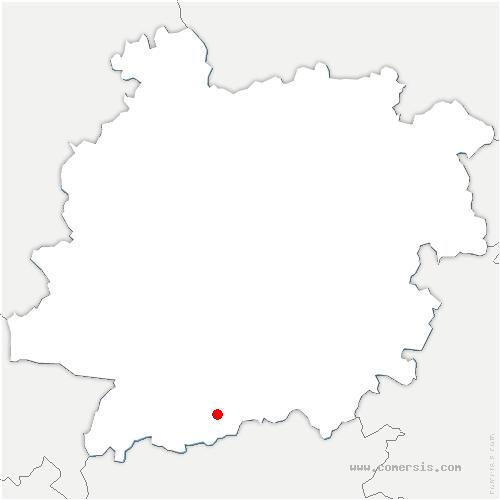carte de localisation de Montaut