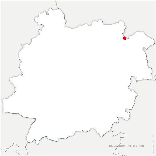 carte de localisation de Paulhiac