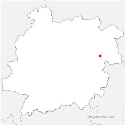 carte de localisation de Penne-d'Agenais