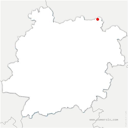 carte de localisation de Rayet