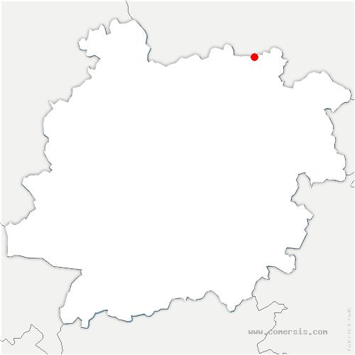 carte de localisation de Rives