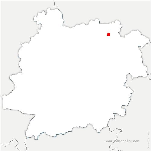carte de localisation de Saint-Eutrope-de-Born