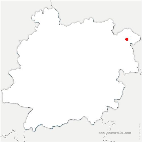 carte de localisation de Saint-Front-sur-Lémance