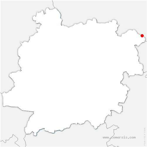 carte de localisation de Sauveterre-la-Lémance