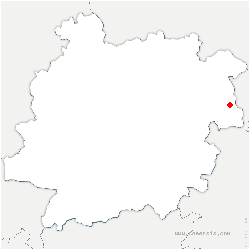 carte de localisation de Thézac