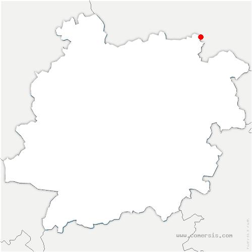 carte de localisation de Tourliac