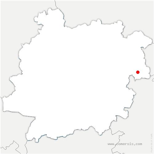 carte de localisation de Tournon-d'Agenais