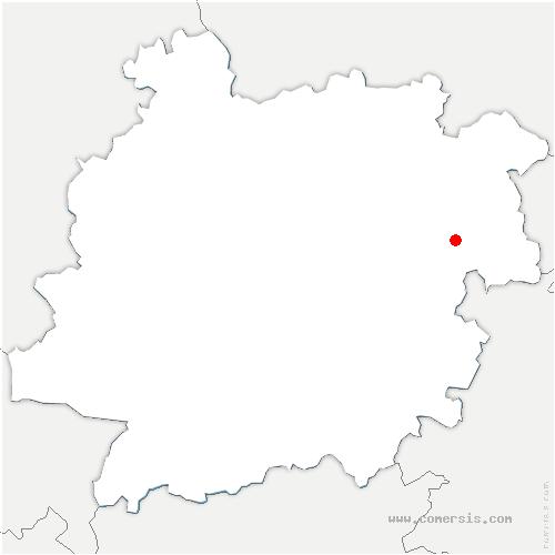 carte de localisation de Trémons