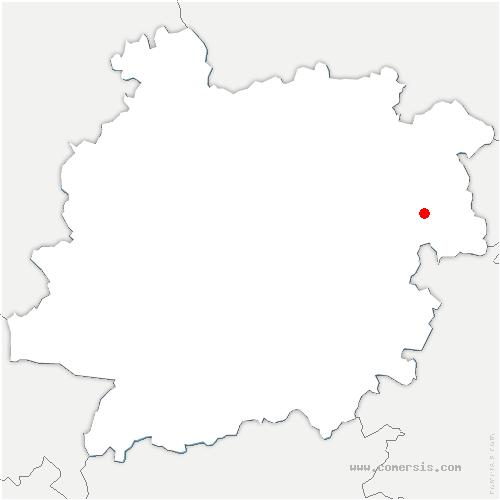 carte de localisation de Trentels