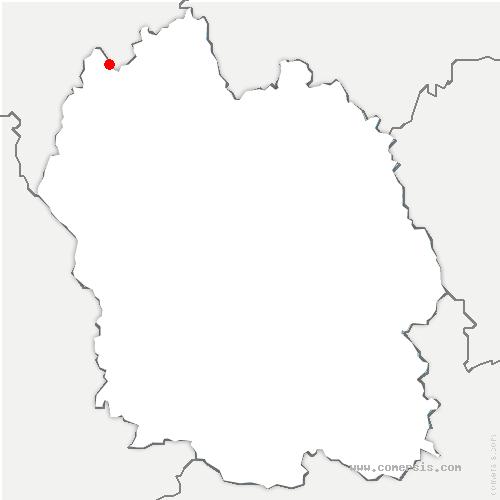 carte de localisation de Albaret-le-Comtal