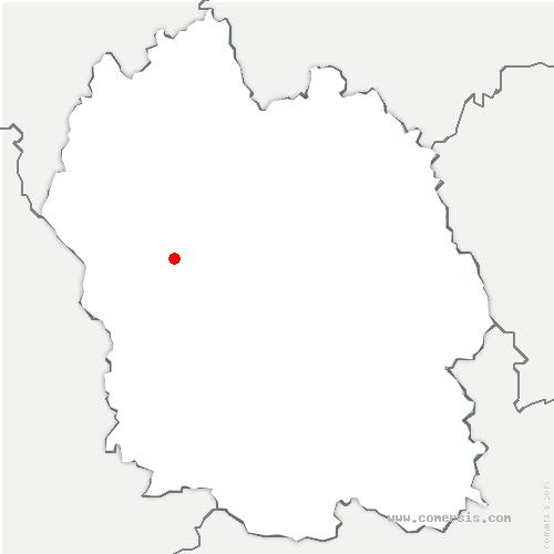 carte de localisation de Antrenas
