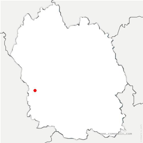 carte de localisation de Banassac-Canilhac