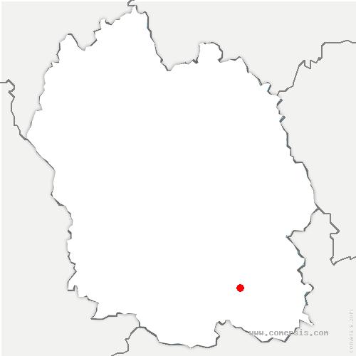 carte de localisation de Barre-des-Cévennes