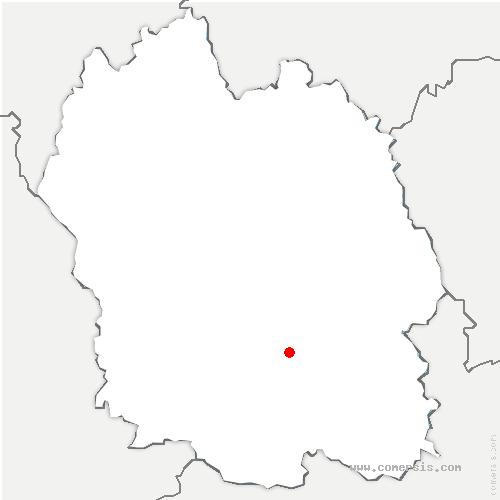 carte de localisation de Bédouès-Cocurès